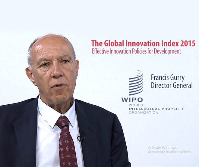 Global Innovation Index 2015 – Highlights from WIPO DG Gurry