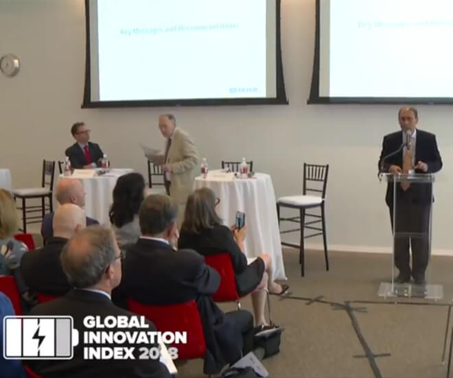 Cornell Professor Presents GII 2018 Key Findings at Global Launch Event
